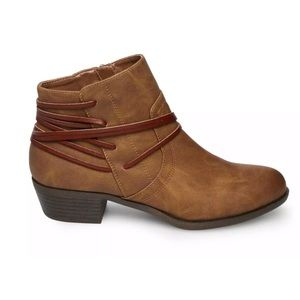 Madden girl ankle boots size 6 NEW brown